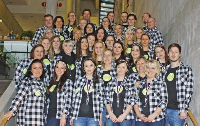 Das *kolibri-Team präsentierte sich im CI-gerechten Look. (Bildquelle: kolibri GmbH)
