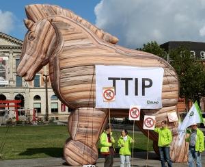 Das Trojanische Pferd mit den Maßen 8 x 6 x 2,5 m passt in eine große Tasche, kann von zwei Erwachsenen problemlos getragen werden und ist innerhalb von zehn Minuten aufgeblasen.