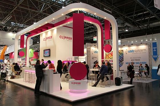 Seinen neuen Auftritt und das neue Konzept präsentierte Clipper auf der PSI-Messe 2016 in Düsseldorf.