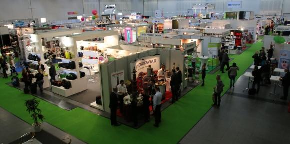 Werbeartikel-Lieferanten präsentierten sich auf den GiveADays in Halle 2.