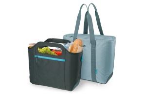 Ausgezeichnete Lösung: Die isoBag von alfi präsentiert sich als clevere Verbindung von Kühltasche und Shopper.