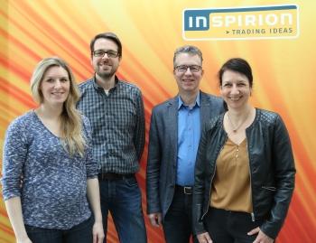 Die Jubilare (v.l.): Sinja Lettmann, Sebastian Krampe, Christian Haake und Katja Dreier.