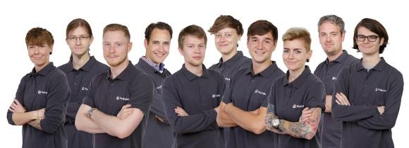Das Team von Pinkcube mit Unternehmensgründer und Geschäftsführer Albert Johan Jonkeren (4.v.l.).