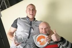 Gehörten zu den Preisträgern des Promotional Gift Award 2016: Jakub Mastik (l) und Willi Richter von Respiro.