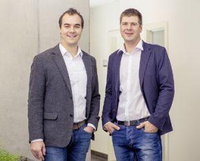 Die beiden Vim Solution-Geschäftsführer Michael Liebhaber (l) und Bastian Scheil lenken die Geschicke des Unternehmens von Kirchzarten aus.
