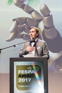 FESPA President Christian Duyckaerts at the FESPA Gala Night 2017 - Fespa: Neuer Präsident