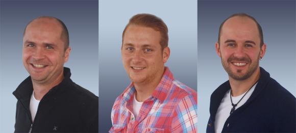 V.l.: Sven Czwartek, Christian Ehgartner und Sascha Steinhauser.