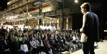 Das Vortragsprogramm mit Referenten von True Fruits, Mondelez, dem NDR und Borussia Dortmund erwies sich als Publikumsmagnet.
