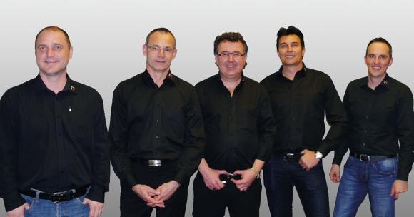 Der neue Vorstand (v.l.): Tom Oester, Christoph Zindel, Roger Riwar, Peter Kaiser und Adrian Schmidhäusler.