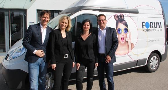 Das Führungsteam von Forum Werbemittel (v.l.): Christian Brandt, Elke Zettl, Margot und Markus Angermayr.