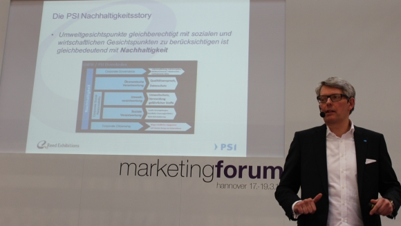 Michael Freter stellte auf der PSI Promotion World die neuen PSI Sustainability Awards vor.