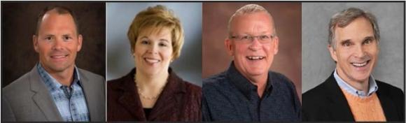V.l.: Tom Goos, Mary Jo Tomasini, Bruce Perryman und Rick Brenner.