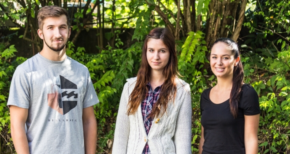 Der vielversprechende Nachwuchs (v.l.): Dennis Rabiger, Maren Kugler und Michelle Arnold.