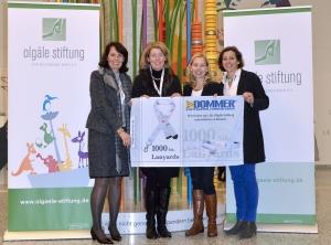 V.l.: Susanne Dieterich, Dr. Stefanie Schuster, Sylvia Dommer-Kroneberg und Felicitas von Hülsen.