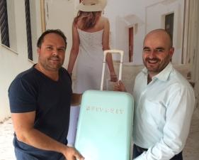 V.l.: Emile Vijlbrieg, CEO von Suitsuit, und Holger Quante.