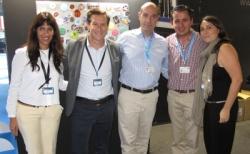 Xavier Marín (2.v.l.), CEO bei Gamax, und sein Team waren mehr als zufrieden.