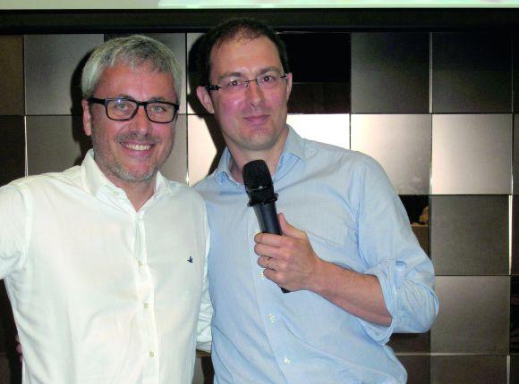 2015 übergibt Ippag-Präsident Soren Langhoff (l) das Steuer an seinen Nachfolger Thibaut Fontaine.