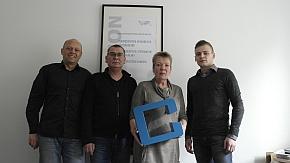 Das neue Team im Frankfurter crimex-Büro (v.l.): Tom Hipper, Jörg Lesny, Marita Juli und Philipp Lesny.