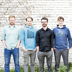 Das Gründerteam von ChicoBag Deutschland (v.l.): Thomas Hellwig, Brendan Reddan, Frank Heerwig und Tobias Schmidt.