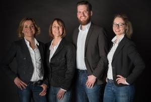 V.l.: Svenja Garrelts, Inga Schröder, Malte Wietbrauk und Amely Heincke.