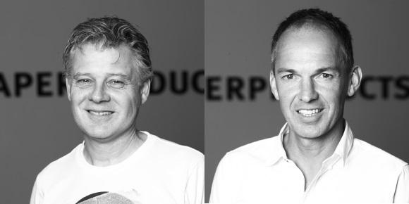 Die Paperproducts Design-Geschäftsführer Werner Ricker (l) und Thomas Halstrick.