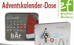 86 adventskalenderdose v - emotion factory: Kreative Weihnachtsideen