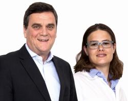 Dr. Thomas Kiepe, geschäftsführender Gesellschafter von KHK, mit Qualitätsmanagerin Dr. Tatjana Levey.