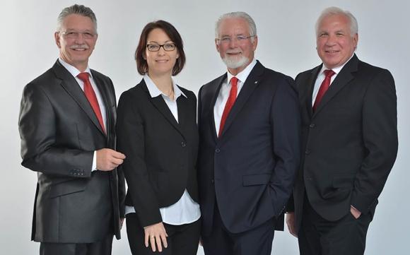 V.l.: Joachim Würz, Stefanie Wieckenberg, Olaf Pohl und Richard Kammerer.