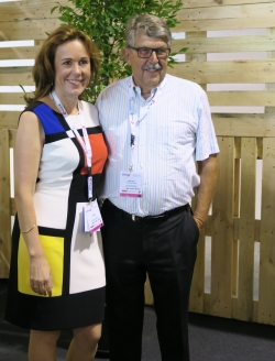 Geschäftsführerin Ewa Ming und Willi Gyger, der den Grundstein für die Suisse EMEX mit dem Swiss Event legte.