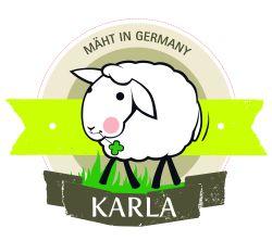 """Schaf Karla """"mäht in Germany"""" – die sympathische Umweltbotschafterin von Kahla pro Öko."""
