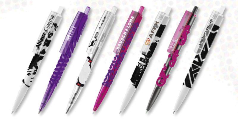 Beflockung von Kugelschreibern