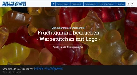 Adicor: Neue Spezialseite für Fruchtgummi