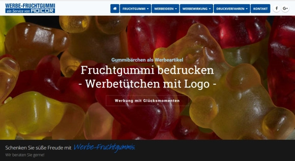 adicor 580x317 - Adicor: Neue Spezialseite für Fruchtgummi