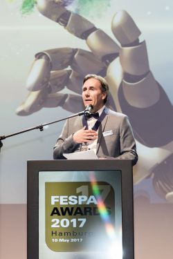 FESPA President Christian Duyckaerts at the FESPA Gala Night 2017 - Fespa: Neuer Präsident