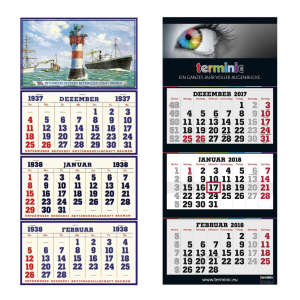 terminic 80Jahre 3 Monatskalender web - terminic: 80 Jahre 3-Monatskalender