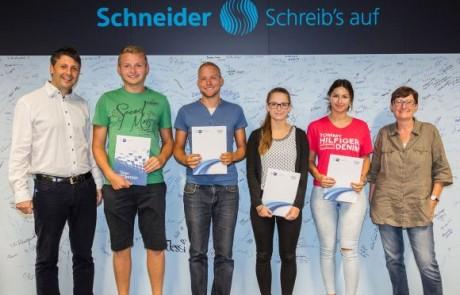 Schneider übernimmt Auszubildende