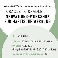 "Cradle to Cradle Workshop - ""Abfall ist Nährstoff"""