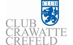 Logo auf weiß CCC mit Wortmarke - Club Crawatte sponsert Charity-Event