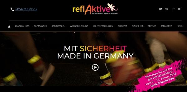 reflAktive Homepage - reflAktive: Runderneuerter Auftritt