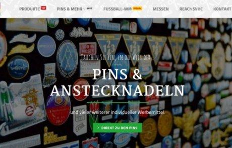 Pins & mehr mit neuem Webauftritt