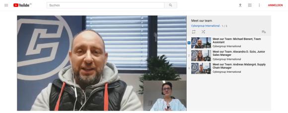 Cybergroup YouTube - Cybergroup: Skype-Interviews der Mitarbeiter