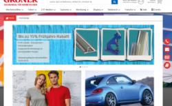 Gröner: Neuer Online-Shop