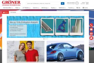 Screenshot Groener - Gröner: Neuer Online-Shop