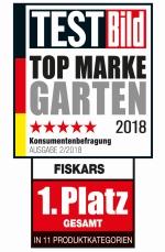 """fiskars testbild logo - Fiskars: """"Top Marke Garten"""""""