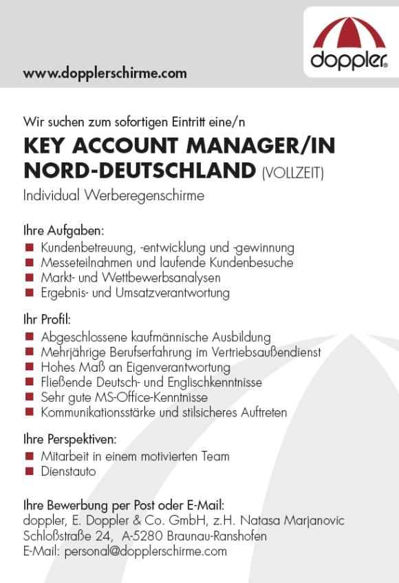 663 doppler - Key Account Manager Norddeutschland (m/w)