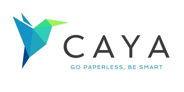 caya logo weiß.jpg - Caya: Studie zum Werbepost-Aufkommen
