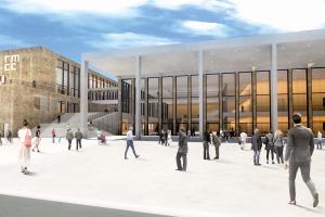 Außenansicht RMCC mit Menschen©Rhein Main Hallen GmbH NEU - GWW-Trend: Neue Location und neues Programm am Vortag