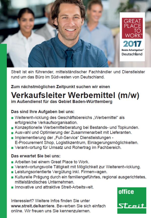 676 streit - Verkaufsleiter Werbemittel (m/w)