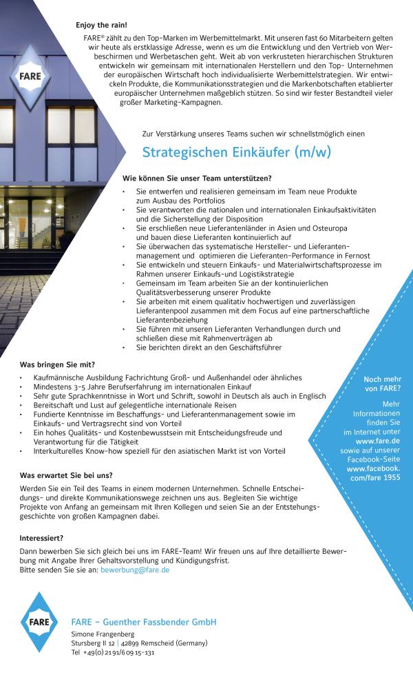 679 fare strategischer - Strategischer Einkäufer (m/w)