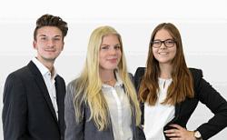 CD Werbemittel: Drei neue Auszubildende